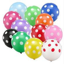 "10pcs/lot 12"" Latex Polka Dot Balloons for Party Wedding Birthday Decoration Wholesale"