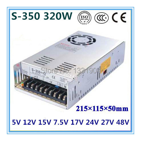 single output switching power supply S-320,320W AC input, output voltage 5V,12V.15V,24V.. without dial switch<br>