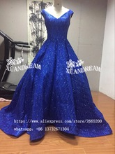 Real made bling bling evening gown for party robe de soiree vestido de festa hot sale puffy evening dresses 2017 made in china