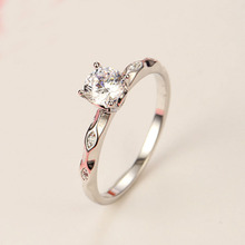 1pcs Well Defined Silver Color Evil Eye Statement Ring With Crystal Rings For Women Lovers Jewelry Gift(China)