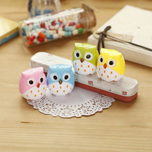 2PCS Mini Cute Kawaii Funny Owl Pencil Sharpener Cutter Knife School Student Stationery Supplies Kids Gift