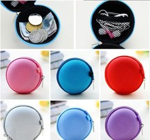 PU leather Zipper Protective Headphone case Pouch Earphone Storage bag Soft Headset Earbuds box Usb cable organizer 7 Colors(China)