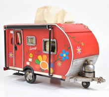 Vintage iron art home decoration camping car trailer box paper box paper towel box handicraft