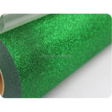 Iron On Glitter Heat Transfer Vinyl Printing Heat Transfer Film-- CDG-19 Green color(China)