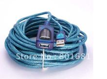 30ft USB 2.0 A Male to Female ACTIVE Extension Data Cable 10M +Free shipping +tracking number(China)