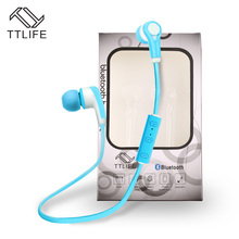 Buy 2 Get 1$ Down !!! TTLIFE Bluetooth Earphone Headsets HiFi Stereo Sport Running Wireless Earphones with Mic for Phone Xiaomi(China)