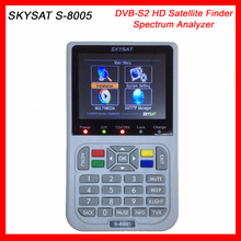 Professional DVB-S2 Satellite Finder Meter SKYSAT S-8005 MPEG4 Spectrum Analyzer 3.5 inch LCD Screen HD Sat Finder