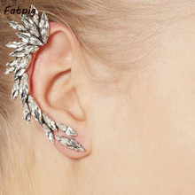Hot Sale Silver Plated Punk Ear Cuff Clip Earring Crescent Shape Clip on Ear Wrap No piercing Earring Jewelry For Women
