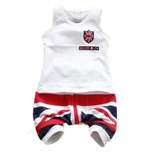 ABWE Best Sale New Cotton Baby Boy Summer Set 2PC T-shirts Shorts+Shorts Toddler Kids clothes 3-4 Years
