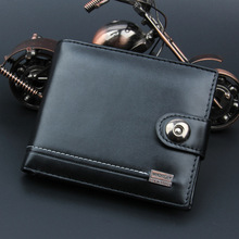 Men Wallets Soft Pu Leather Hasp Designer Money Clip with Coin Pocket Purse 2017 New Gift Card Hold for Men Bag Black Color