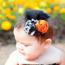 CUTIEPIE Feather Flower Hair Clip Halloween Accessories Newborn Photography Props Girls Hair Supplies DIY Party Decoration(China)