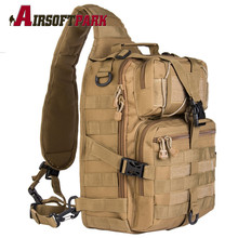 Military Backpack Tactical Molle Compact and Versatile Travel Bag Hand Sport Saddle Shoulder Bag for Hunting Hiking Cycling Tan