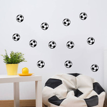 DIY Black Football Vinyl Wall Sticker Soccer Ball Kid Room Decal Stickers Boys Decor Sports Waterproof Removable Home Decor(China)