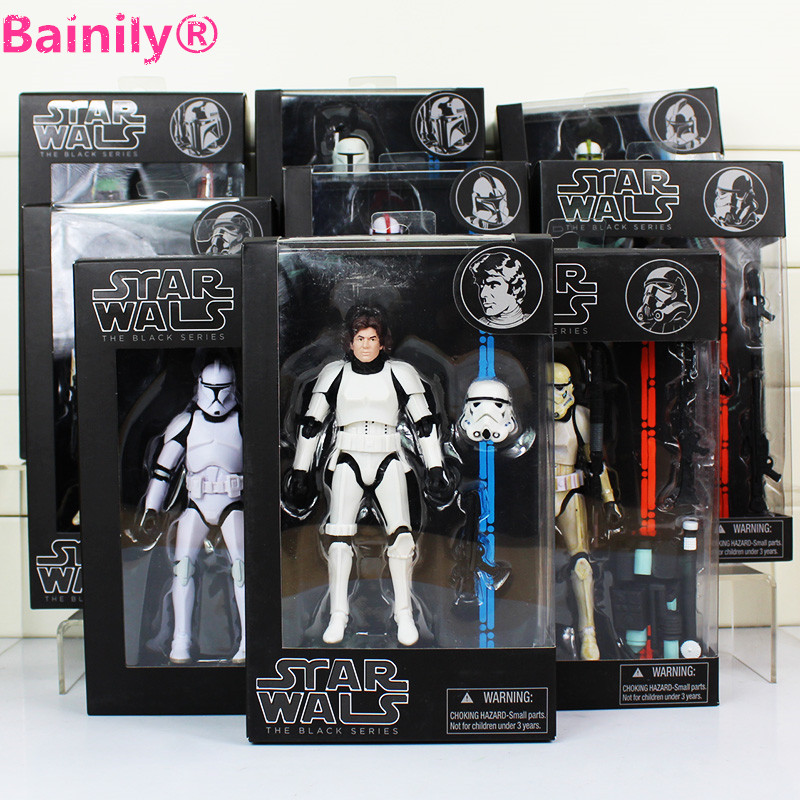 [Bainily]16cm Star Wars Toy Darth Vader White Soldiers Darth Maul Boba Fett PVC Starwars Action Figure Model Kid Toys<br><br>Aliexpress