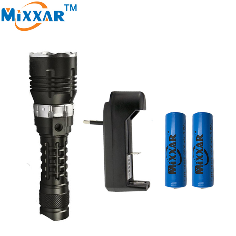 zk30 5000LM Waterproof CREE XM-l2 4-Mode LED Diving Flashlight torch Underwater 120m diving lantern tactical lamp flashlight<br>
