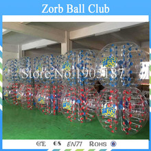 Free Shipping 10PCS(5Red+5Blue) 0.8mm 100% TPU Bumper Ball,Bubble Soccer Suit,Bubble Football