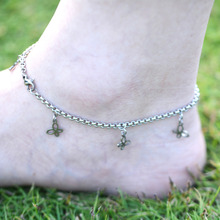 DIY 316L Stainless Steel Anklet Chain with Small Butterfly Charms Stainless Steel Ankle Bracelet Foot Jewelry A013