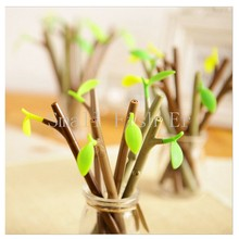 12pcs/lot korean Stationery Cute Forest bamboo gel pens 0.38mm Black ink pens dust plug pen office school supplies escolar