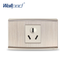 3 Pin 16A Socket 2017 Hot Sale China Manufacturer Wallpad Luxury Wall Outlet(China)