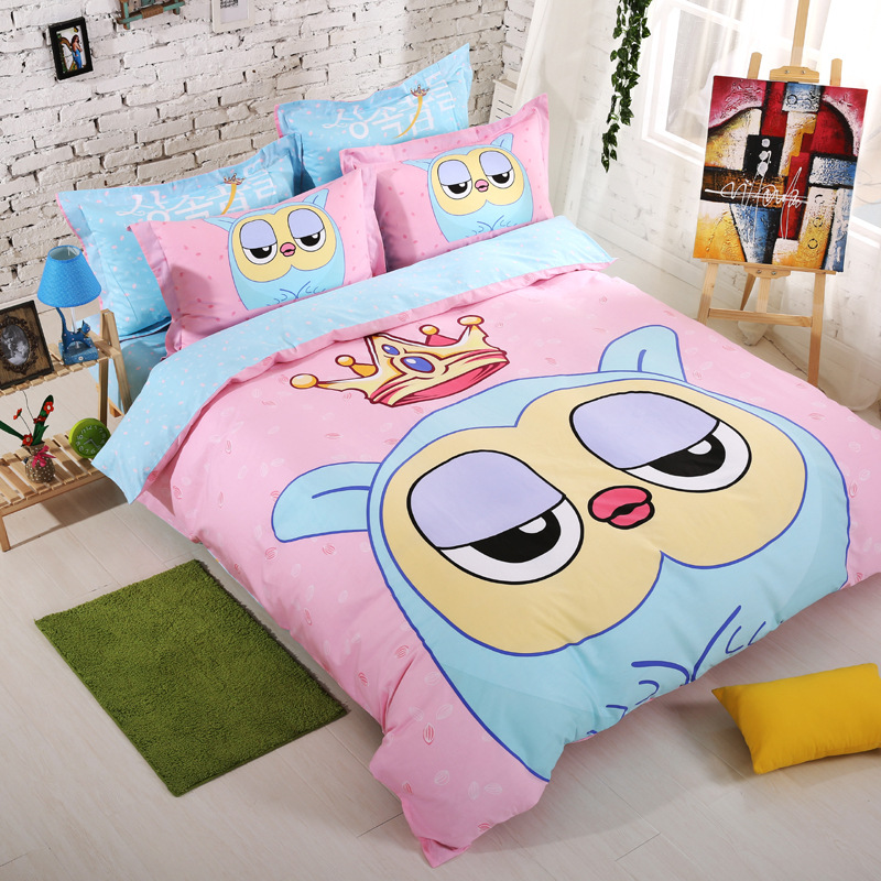 Best Cute Pink 100 Cotton Sheets Toddler Bed Sheet Set S Quilts Queen Quilt Cover Sets With Pillowcase In Bedding From Home Garden On