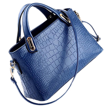 Hot Fashion unique Shoulder bag Crocodile Grain Three-pieces Mother Son Messenger Bag (Blue)