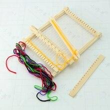 Новый Детский DIY деревянный ручного развивающие игрушки пряжи ткачество Вязание Челнок ткацкого станка(China)