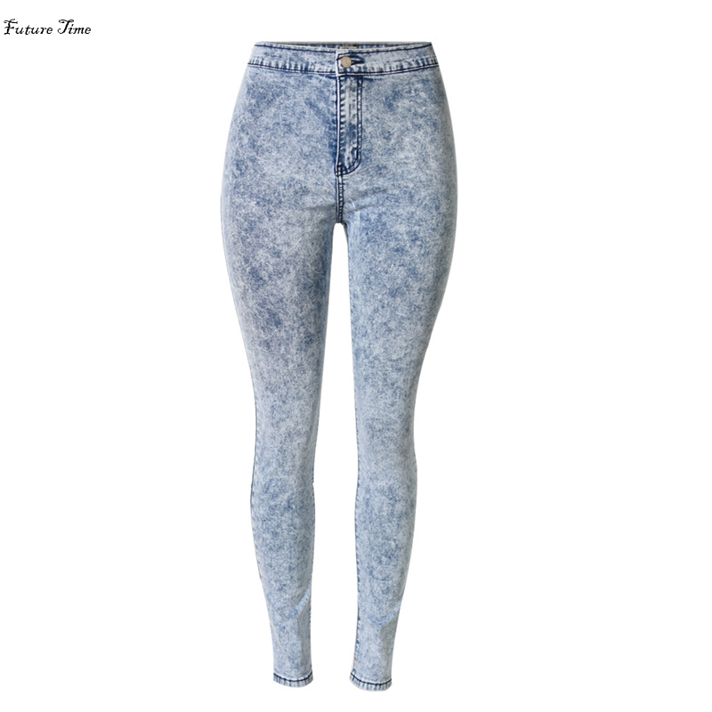 2017 New women jeans tie dye snow wash stretch high waist tight slim  jeans pencil pants sexy push up hip jeans woman C0451Одежда и ак�е��уары<br><br><br>Aliexpress