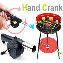 New barbecue tools fan air blower Hand Fan Cranked for Outdoor Picnic Camping BBQ bbq accessories