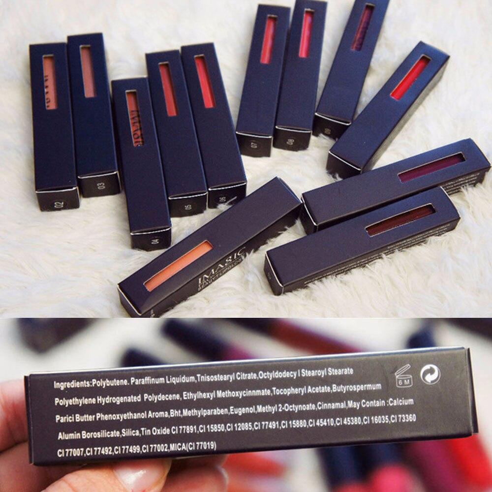 IMAGIC 12 colors lip kit matte lipgloss Lip Liner Pencil Pen Liquid Lipstick set lip stick lip gloss Lips Women Makeup Tool<br>