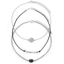 3Pcs Set New ArrivalUnique Vintage Silver Necklace Fashion Brand Maxi Choker Necklace For Women Factory Wholesale