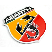 5PCS/Lots Automobile ABARTH Logo Badge Emblem Brands Stickers New Car Metal Badge Sticker Emblem Decal Sticker Car Sticker(China)