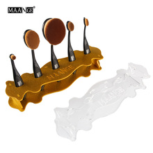 1Pc Toothbrush Oval Makeup Brush Acrylic Display Holder Stand Storage Organizer Brush Dryer Showing Rack Shelf Tool HighQuality