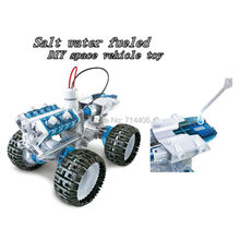 NEW Salt water fueled DIY space vehicle green technology science robot model toys,brine power Engine Car education toys for kid