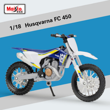 New 1/18 scale Mini KTM Husqvarna FC450 Motorcycle Enduro Racing Diecast model Motocross Replica Metal For Kids Toys Gifts(China)