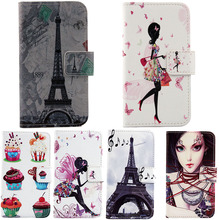 Hot Elegant Cartoon Stand Flip Cover Skin Pouch For Highscreen Boost 2 SE 1X Optional Painted PU Leather Case Phone Case(China)