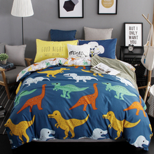 Duvet Cover Set Cartoon Bedding sets Twin Child boy Quilt Cover Set,3/4 Pcs linens Sheet set Bedroom Bedding Fdinosaur