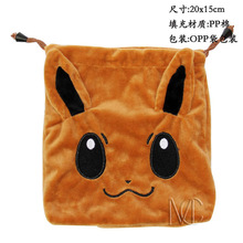 Anime Pocket Monster Eevee Jewelry/Cell Phone Drawstring Pouch/Wedding Party Christmas Gift Bag (DRAPH_5)