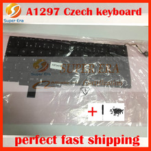 5pcs/lot A1297 Czech keyboard for macbook pro 17'' A1297 Czech keyboard without backlight 2009 2010 2011year(China)