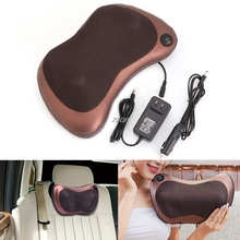 2017  Electronic Massage Pillow Massager Cushion Car Lumbar Neck Back Shoulder Relax JUN29_15