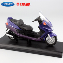 1:18 scale small 1999 Yamaha Majesty YP250DX motorcycle Motorbikes Scooter metal miniature model Diecast with base box Kids toys
