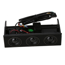 "5.25"" PC Front panel  Stereo Speaker PC Front Panel Computer Case Built-in Mic Music Loudspeaker Surround Sound Speaker"