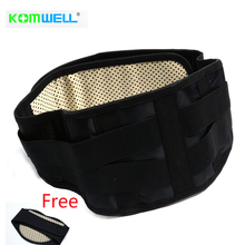 High quality Self-heating 3Plate Magnetic Tourmaline lumbar Belt For Back With Waist Ceinture Tourmaline Support Brace Massager(China)