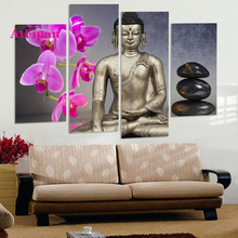 AtFipanUnframed Religion Buddha Painting Canvas Wall Spray Painting Modern Decorative Canvas Art Work Prints On The Living Room