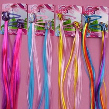 2pcs=1lot Little Ponys Princess Braid Wig Hair Clips Hairpin Headdress Party Hairgrips Cosplay Hair Accessories Headband