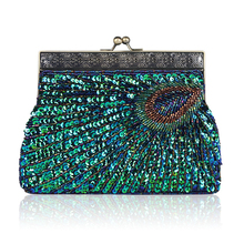 Luxury Party Evening Bags Female Vintage Women Clutch Bag Designer Peacock Day Clutches Purse Wedding Ladies Hand Bags Gifts