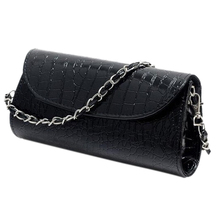 TEXU Design Crocodile Pattern Chain women bag handbag cluth faux Leather Evening Clutches party Shoulder Bag bolsas(China)