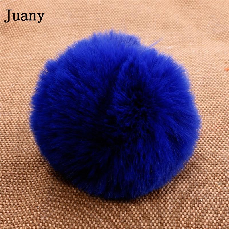 pompom key chain fluffy rabbit fur ball with bell key chain fake fur keychain women car bag key ring 13