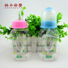 2016 Plastic Baby Feeding Bottle Of 120 Ml Standard Caliber Pc Material Blue Pink Color
