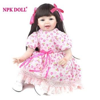 NPKDOLL 55 cm Paño Suave de Silicona Renacer Muñecas 22 Pulgadas Realista cuerpo de Los Bebés Recién Nacidos Bebe Reborn Juguetes Para Niñas Muñeca de Moda regalos