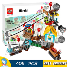 405pcs The Birds Pig City Teardown 10508 Building Blocks Bricks Model Toys Games Movie Children Toys Sets Compatible With Lego